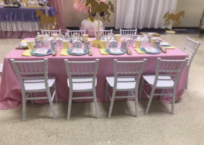 Kids 1st Birthday. Customer Pic. Kids Chivalri Chair, Linen, _ Kids Table by Epic.